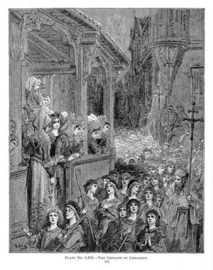 Barnekorstoget, av Gustave Doré, 1892. Bilde: Fra Story of the Crusades 1892/Wikimedia Commons
