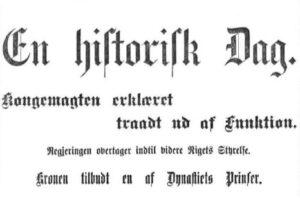 Aftenpostens overskrift etter 7. juni-vedtaket i Stortinget (Faksimile - Aftenposten)