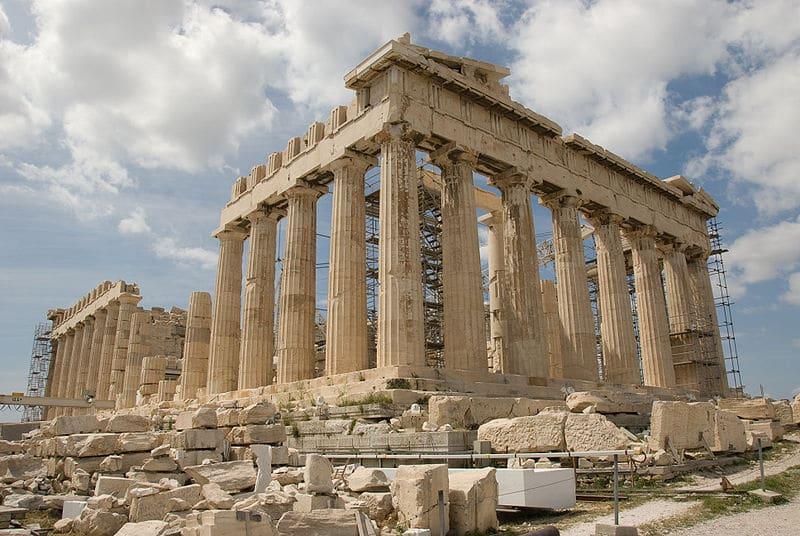 "Parthenon i Athen BIlde: <a href=""http://commons.wikimedia.org/wiki/File:Parthenon-2008.jpg?uselang=nb"">Wikimedia commons</a>"