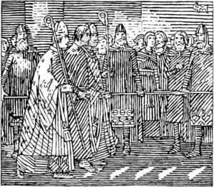 Illustrasjon av Gerhard Munthe (1849-1929). Fra Snorre Sturluson: Heimskringla, J.M. Stenersen & Co, 1899.