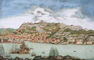 Fredriksten festning i Halden ble raskt omringet og forbigått da den overlegne svenske hæren angrep Norge sommeren 1814.