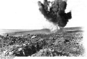 Eksploderende granat ved Verdun