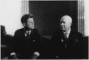 John F. Kennedy og Nikita Khrustsjov i Wien, Østerrike 3. eller 4. juni 1961