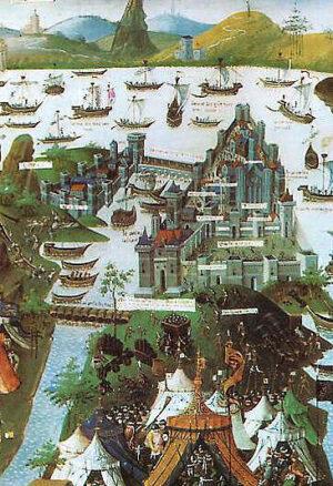 Konstantinopel 1453, fransk folio