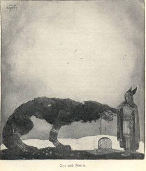 Tyr ofrer armen til Fenrisulven.