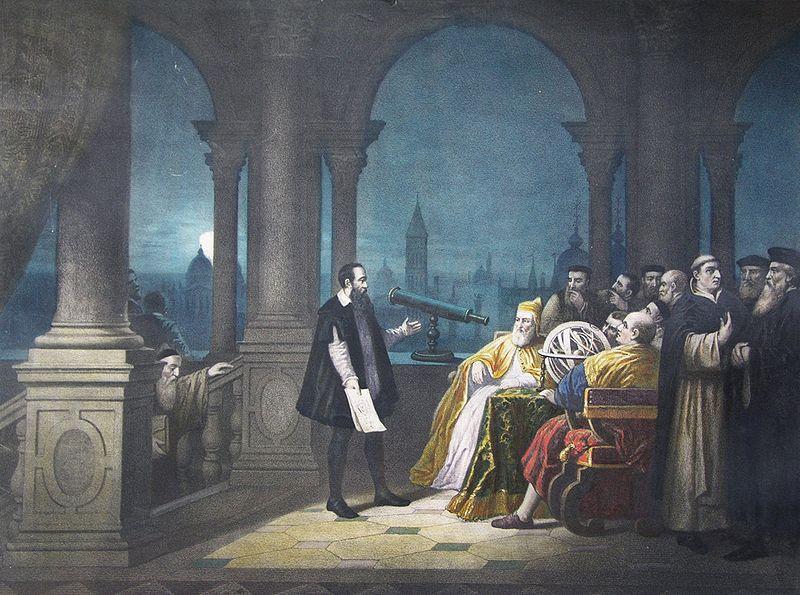 Galileo Galilei demonstrete i 1609 teleskopet for den venetianske fyrsten (kalt doge).
