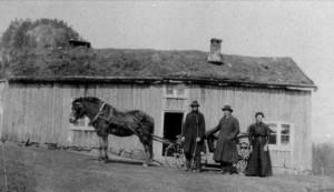 Husmannsplass i Audnedal kommune. Bildet er fra 1800-tallet. Inge opphavsrett grunnet alder. CC-del på lik linje.