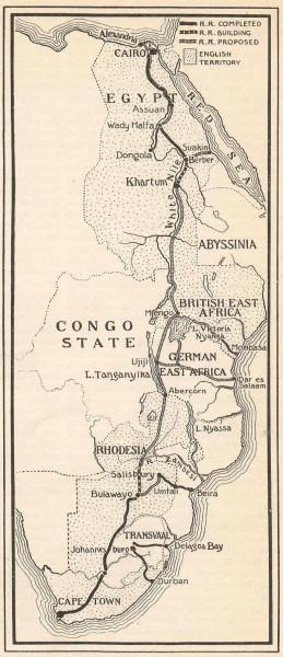 Den planlagte, men aldri fullførte, britisk jernbanen fra sør til nord.