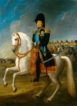 Karl 14. Johan (1763-1844) var konge i Sverige og Norge mellom 1818 og 1844. Oljemaleri av Fredic Westin malt mellom 1818 og 1844. Ingen opphavsrett grunnet alder.