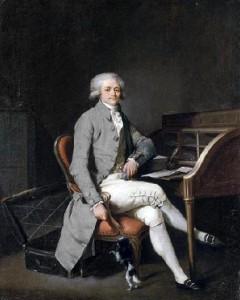 Maximilien Robespierre var en ung advokat og kjent motstander av dødsstraff da han ble valgt inn som representant for tredjestanden i 1789. Han ble siden leder for Jakobinerne i nasjonalkonventet og ledet an i det som ble kjent som det jakobinske terrorveldet 1793-94. Maleri fra 1791 av Louis-Leopold Boilly. Ingen opphavsrett grunnet alder.