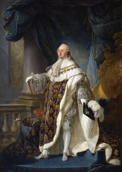 Maleri av Ludvig den 16. av Frankrike fra 1779. Det var nasjonens dype gjeld og adelens manglende vilje til å bidra til statskassene som var blant de viktigste årsakene til at kongen følte seg tvunget til å innkalle til den første stenderforsamlingen på to århundrer i 1789. Maleri av Antoine-Francois Callet 1789. Ingen opphavsrett grunnet alder.
