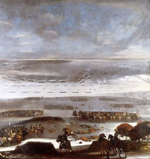 Vinteren 1657 var så kald at vannet mellom Storebælt og Lillebælt frøs til is så tykk at svenskene kunne sende hele hæren sin over til fots.