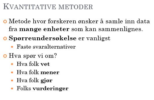 Kvantitativ metode