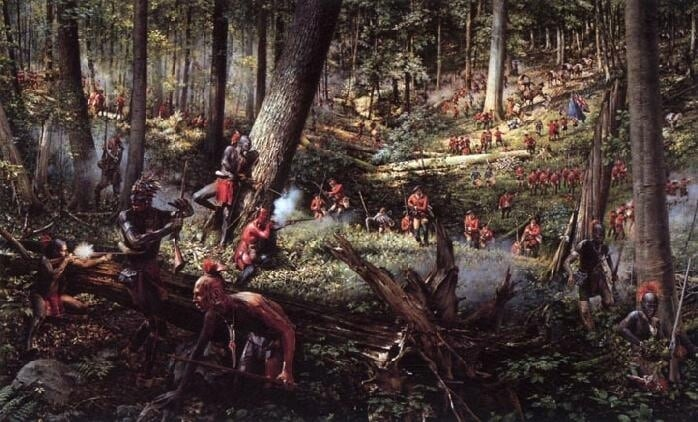 Under sjuårskrigen (1756-1763) kjempet britene en innbitt kamp mot franske soldater støttet av indianerstammer som ønsket engelskmennene vekk.