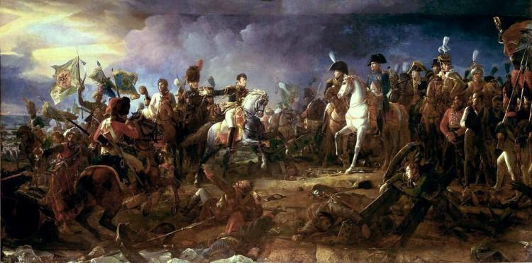 Slaget ved Austerlitz i 1805 har blitt kalt Napoleons største seier. Her slo franskmennene østerrikerne og russerne den 2. desember. Maleri av François Gérard 1805, ingen opphavsrett grunnet alder