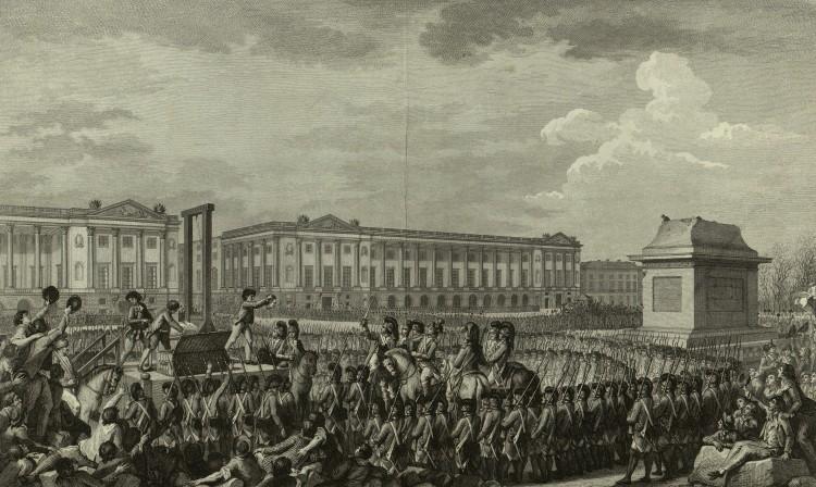 Ludvig den 16. ble henrettet med giljotinen på Place de la Concorde den 21. januar 1793 for landsforræderi.