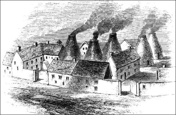 Wedgwoods første fabrikk hvor han produserte de første settene med såkalt Queensware.