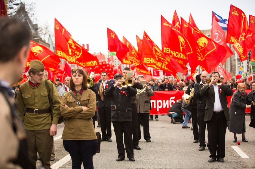 Russiske kommunistpartiets 1. mai-demonstrasjon i Moskva 2013. Foto: dimaberkut / 123RF Stock Photo