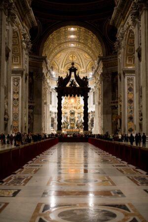 Peterskirken i Roma. Opphavsrett: mennesket.net/Hellum 2008.